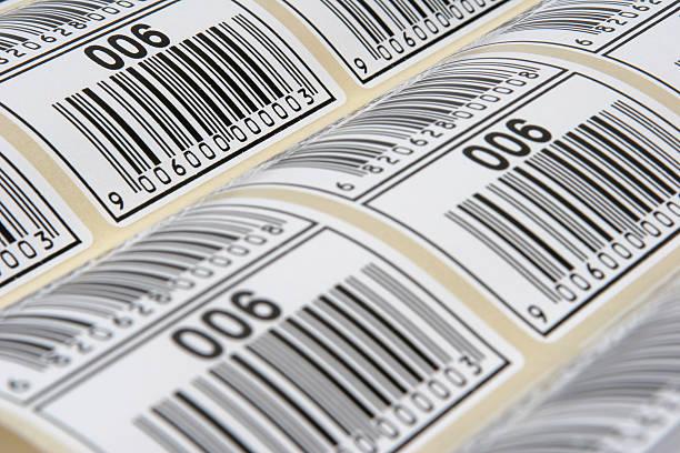 etiketten op rol